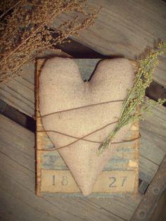 Daughternature Primitive Folk Art: Primitive Decor Aged Wood Needfuls...