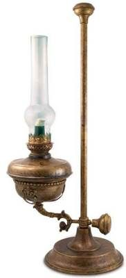 victorian oil lamp on stand: $299.00