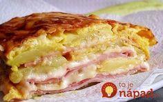 Falošné lasagne z cukety so šunkou a syrom