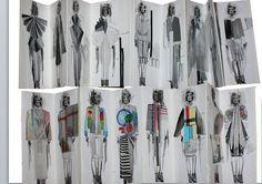 Fashion Sketchbook - fashion design development; fashion collage drawings; fashion portfolio // CSM fashion student work