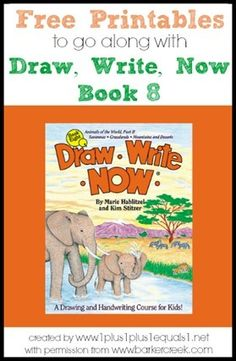 Free Printables to go along with the Draw, Write Now book 8 {themes include: Savannas, Grasslands, Mountains & Deserts}  Created by www.1plus1plus1equals1.net with permission from www.barkercreek.com