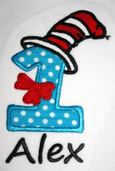 Dr Seuss Cat in the Hat 1st Birthday Shirt