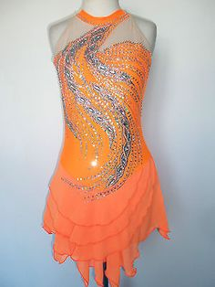 Customized New Ice Skating Baton Twirling Dress | eBay