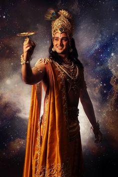Lord Krishna (still from TV serial Mahabharata) Radha Krishna Love, Arte Krishna, Radha Krishna Songs, Krishna Gif, Krishna Leela, Lord Krishna Images, Radha Krishna Pictures, Krishna Quotes, Krishna Video