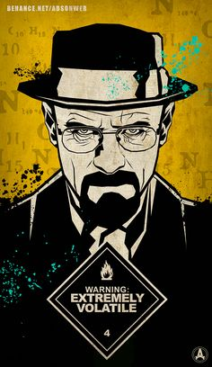 Illustration Sketch: Breaking Bad's Walter White on Behance by adsonweb