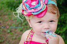 Baby Headbands-Children's Flower Headband-Newborn Headband-Baby Headbands-Flower Girl Headband-Fall Wedding