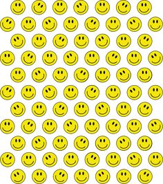 Smiley M Sticker by MORE by Jamie Preston - White Background - Smiley Faces, Smiley Face Images, Smile Wallpaper, Wallpaper Iphone Cute, Background Paper, Face Aesthetic, Face Stickers, Hippie Life, Backrounds