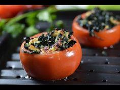Tomates rellenos de queso y espinacas - YouTube