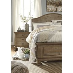 ashley furniture bedrooms. Ashley Trishley Queen Panel Bed in Light Brown Trinell  Bedroom Furniture