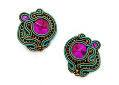 These emerald soutache earrings bring glamour and elegance to your look. Rhinestone earrings will catch everybody's attention wherever you will go. No matter if. Soutache Earrings, Rhinestone Earrings, Statement Earrings, Stud Earrings, Wedding Groom, Wedding Gifts, Groom Getting Ready, Birthday Gifts For Women, Bridesmaid Earrings