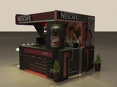 NESCAFE kiosk by Mostafa Shehatta, via Behance: