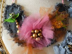 Up cycled denim statement necklace - made from blue jeans