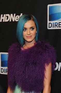 Katy Perry Hair not a huge fan of the blue though