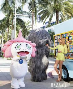 Laura Brown Treats Takashi Murakami's Monsters to In 'N Out Burger for Harper's Bazaar