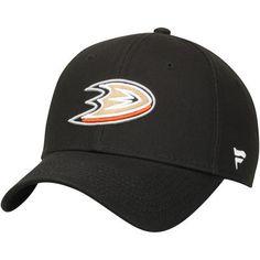 b9d1ad5b9af Youth Black Anaheim Ducks Alpha Structured Adjustable Hat