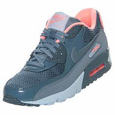 Women's Nike Air Max 90 Running Shoes | FinishLine.com | Armory Slate/Light Armory