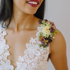 15 Bridal Trends We Are Obsessing Over For Wedding Dress Sleeves, One Shoulder Wedding Dress, Prom Flowers, Wedding Flowers, Blonde Bride, Stunning Wedding Dresses, Beautiful Bouquets, Crop Top Dress, Bridal Jumpsuit