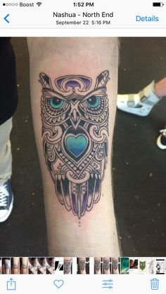 #tattooartist #owls #owltattoos #tattoosbynato