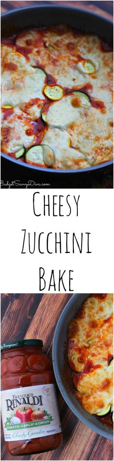 Cheesy Zucchini Bake Recipe - I love this recipe - plus it is gluten - free. #ad #GetSaucy . It is the perfect side dish that anyone can make.