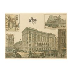 "Vintage Reading Railroad Terminal 1893 Wood Canvas from zazzle.com - $168.00 - 24""X18"" -  #stanrail -Print your favorite photo memories and art on a unique WoodSnap print!  The beautiful wood grains shine through with the omission of white ink during the printing process creating a statement piece perfect for any space. WoodSnap, the original print on wood company, utilizes sustainable manufacturing and plants a tree for every WoodSnap print created #stanrails_store"