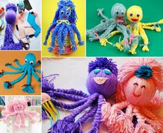 Yarn Octopus:  I remember these little guys from the 1960's.