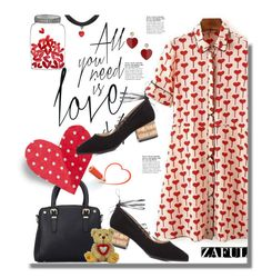 """""""Zaful.com: All you need is love!!"""" by hamaly ❤ liked on Polyvore featuring Topshop, shoes, ootd, dresses, bags and zaful"""