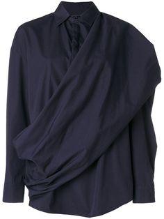 CHALAYAN twisted sash shirt. #chalayan #cloth #