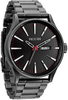 Nixon Sentry SS Gunmetal Analog Watch
