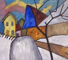 German expressionist painter Gabriele Münter was born on this date in This is The Blue Gable (via August Macke, Franz Marc, Wassily Kandinsky, Cavalier Bleu, Blue Rider, Illustrations, Pretty Pictures, Online Art, Art Museum