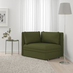 VALLENTUNA modular sofas feature removable, washable covers and pocket strings, plus many convert to sofa beds and feature hidden storage. Armchair Bed, Sofa Bed, Sleeper Chair Bed, Sofa Chair, Fabric Armchairs, Chair Fabric, Ikea Vallentuna, Vert Olive, Olive Green