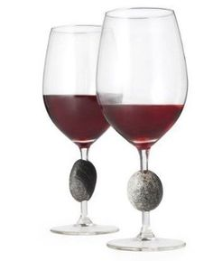 Sea Stones SWG Sea Stones Stone-Stemmed Wine Glass, Set of 2 by Sea Stones. $56.28. Manufactured to the Highest Quality Available.. Great Gift Idea.. Design is stylish and innovative. Satisfaction Ensured.. Celebrate with nature with these unique wine glasses that embody an intriguing sword-in-the-stone design and feel great in your hand. Since no two are alike, the design also makes it easy to recognize your wine glass. Pair perfectly with Sea Stones stone bottle stoppers a...