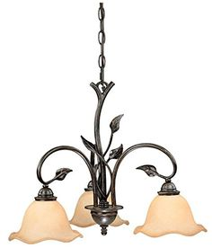 Buy the Vaxcel Lighting Oil Shale Direct. Shop for the Vaxcel Lighting Oil Shale Vine 3 Light Single Tier Chandelier with Frosted Glass Shades - 22 Inches Wide and save. Wagon Wheel Chandelier, 3 Light Chandelier, Bronze Chandelier, Rustic Chandelier, Chandelier Shades, Glass Chandelier, Hanging Lights, Fairy Lights, Wall Lights