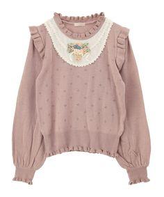 【HAPPY PRICE】リボン刺繍ブロッキングプルオーバー | axes femme online shop