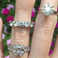 A variety of rings by David Klass Jewelry.