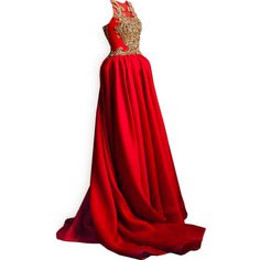 satinee.polyvore.com - Krikor Jabotian ❤ liked on Polyvore featuring dresses, gowns, long dresses, vestidos, red gown, red dress, red ball gown, long red dress and red evening dresses
