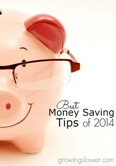 The top 10 Best Money Saving Tips of 2014 from GrowingSlower.com.