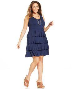Style&co. Plus Size Tiered Tank Dress - Dresses - Plus Sizes - Macy's