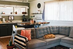 """From """"Hideous"""" to Cozy: 400 Square Feet of DIY Style — House Tour"""