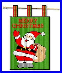 MERRY CHRISTMAS SANTA GARDEN FLAG by JODY 1/2