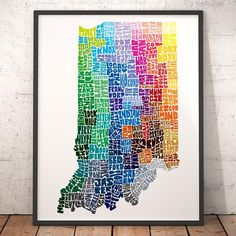 Indiana in City Typography