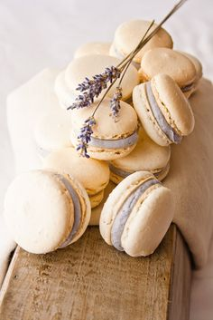 Honey Lavender Macarons (made with almond meal -- modified from Bouchon Bakery cookbook) | Hint of Vanilla