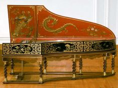 Gorgeous Antique Hand Painted Harpsichord Musical Instrument - http://www.busaccagallery.com/catalog.php?catid=212=4932=1
