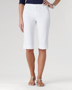 Eyelet denim shorts | Coldwater Creek Coldwater Creek, Modest Shorts, Passion For Fashion, Bermuda Shorts, Denim Shorts, How To Wear, Poetry, Clothes, Outfits