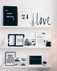 Also at Christmas: typography is trend! Write your quotes and sayings on the retro letter board and decorate casually. Just put on a dresser and lean against the wall. So easy you conjure a modern and at the same time individual interior!