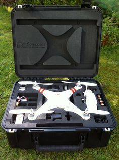 DJI Phantom case - Super tough storage case for DJI Phantom Drone, £215.00 (http://goprocases.co.uk/dji-1-storage-case-for-dji-phantom-drone/) . This is a very cool military garde case for the Phantom drone GPS aerial UAV quadcopter - and all its gopro accessories.