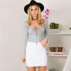 Cheap Moda con cordones OL blusa de manga larga casual blusas elegante femeninos…