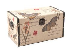 LINEN B/FLY MINI CHEST - For you special memoirs