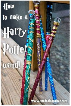 How to make a Harry Potter Wand - MyLitter - One Deal At A Time