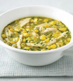 #Chicken and Sweet Corn Soup. Perfect winter recipe. http://www.ivillage.com/chicken-and-sweet-corn-soup/3-r-312239#