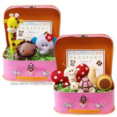 Set of 3 Play Pals Storybook Animals in Suitcase by GiftsDefine